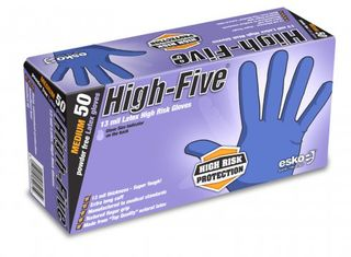HIGH FIVE' Disposable Latex high risk gloves, P/F Large - Esko