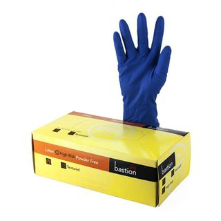 Bastion Latex Hi-Risk Powderfree Gloves Medium - UniPak