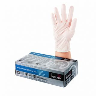 Bastion Nitrile Soft White P/F Gloves XL - UniPak