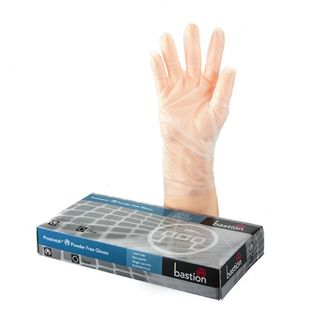 Bastion ProStretch P/F Clear Gloves Medium - UniPak
