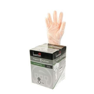 Progenics Vinyl P/F Clear Gloves Medium - UniPak