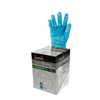 Progenics Vinyl P/F Blue Gloves Medium - UniPak