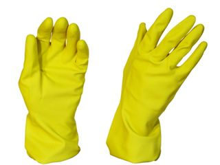 Rubber Gloves Silverline Yellow Large - Pomona