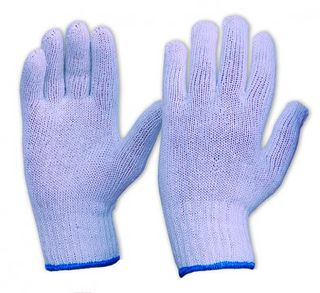 ESKO Knitted poly/cotton glove, White Medium - Esko