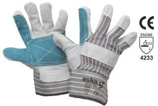 ESKO Heavy duty Polishers leather/cotton glove - Esko