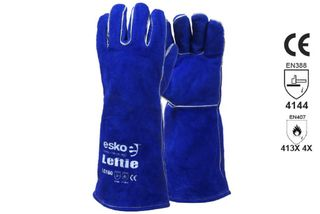 LEFTIE' Premium Left hand pair green welders gloves - Esko