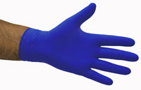 Latex Gloves PowderFree BLUE - Selfgard