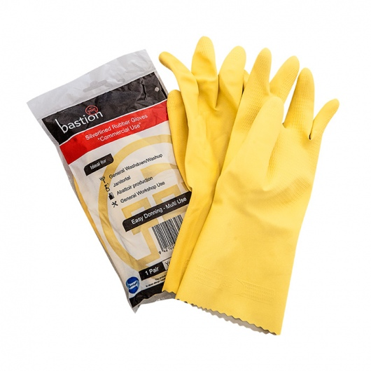 Bastion Silverline Yellow Gloves Small - UniPak