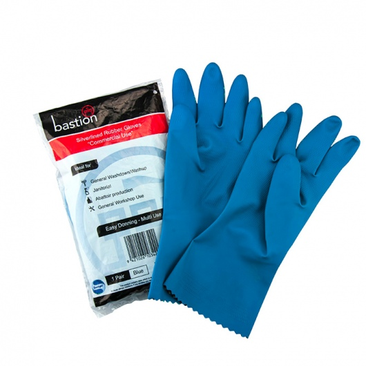 Rubber Gloves Silverline Blue Small - UniPak