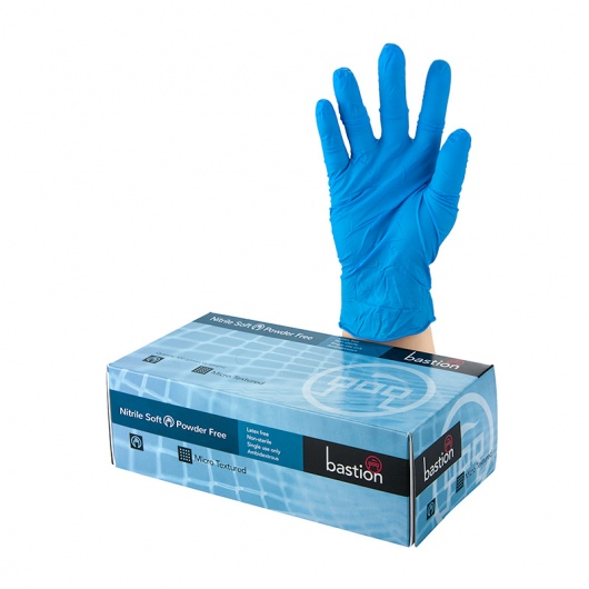Bastion Nitrile Soft Blue P/F Gloves 2XL - UniPak