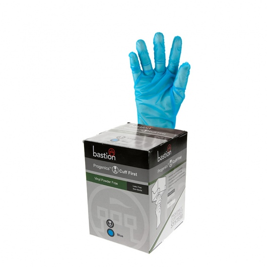 Progenics Vinyl P/F Blue Gloves - UniPak