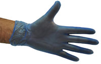Vinyl Gloves Blue - Powdered - Selfgard