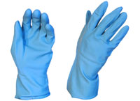 Rubber Gloves Silverline Blue Large - Pomona