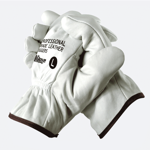Leather Riggers Gloves Professional Grade Large - TGC