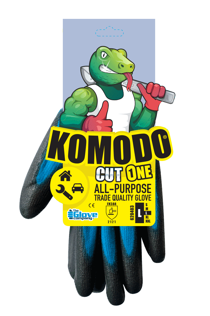 Cut 1 Gloves Individually Tagged 2XL - Komodo
