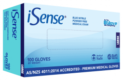 Nitrile Blue Medical PowderFree Small - iSense