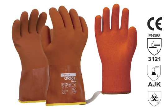 Towa Soft textured PVC winter glove with removable Thermo Liner Large - Esko