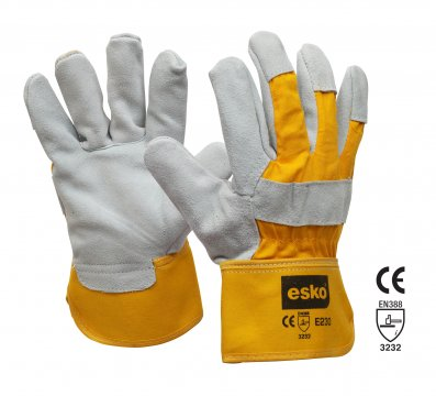 ESKO Heavy duty leather/cotton glove - Esko