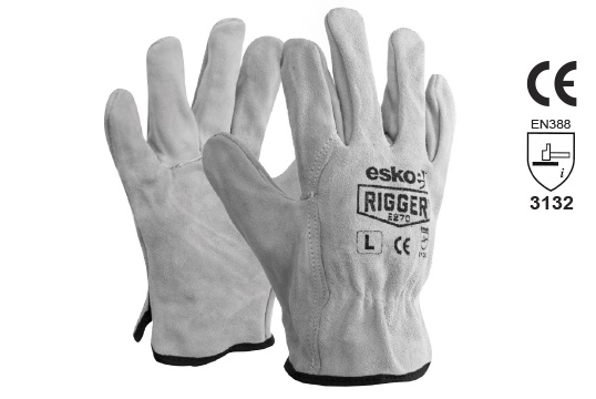 The Esko Rigger', Premium Suede Leather Rigger 2XL - Esko