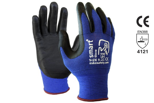 SMART GLOVE' Nitrile Glove with Touchscreen Fingertips Size 7 - Esko
