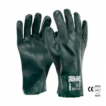 GREEN SHIELD' PVC double dipped glove, 27cm - Esko
