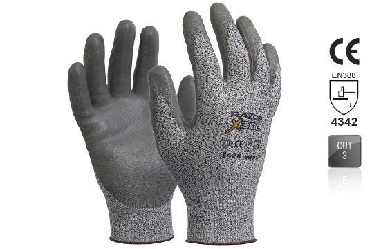 RAZOR-X 300 PU coated Cut Resistant Level 3 Glove Size 7 - Esko