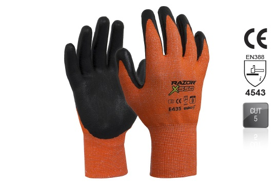 RAZOR-X 550 Nitrile coated Cut Resistant Level 5 Glove Size 10 - Esko