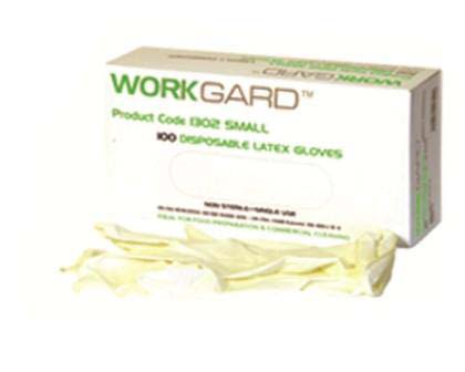 Latex Gloves - Powdered Large - Workgard