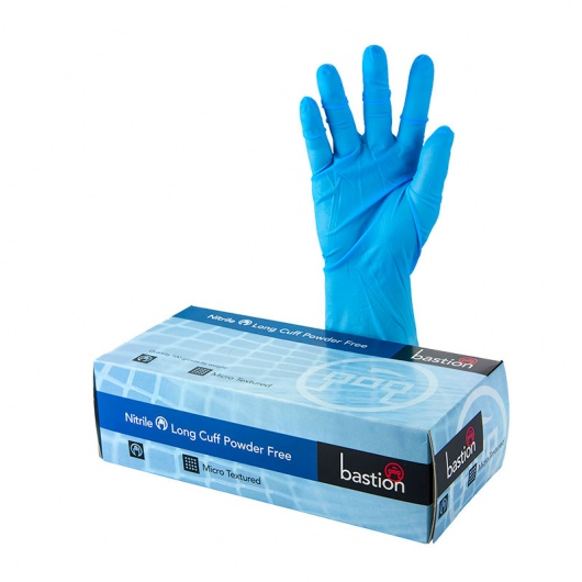 Bastion Nitrile P/F Gloves 300mm Cuff 3XL - UniPak