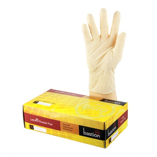 Bastion Latex PowderFree Gloves XL - UniPak